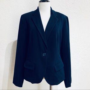 Merona Navy Career Work Wear Blazer Single Button